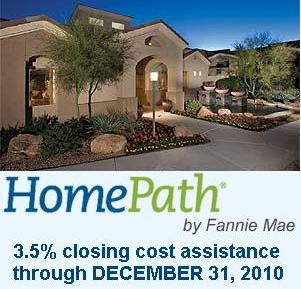 Arizona foreclosure home for sale with closing cost assistance